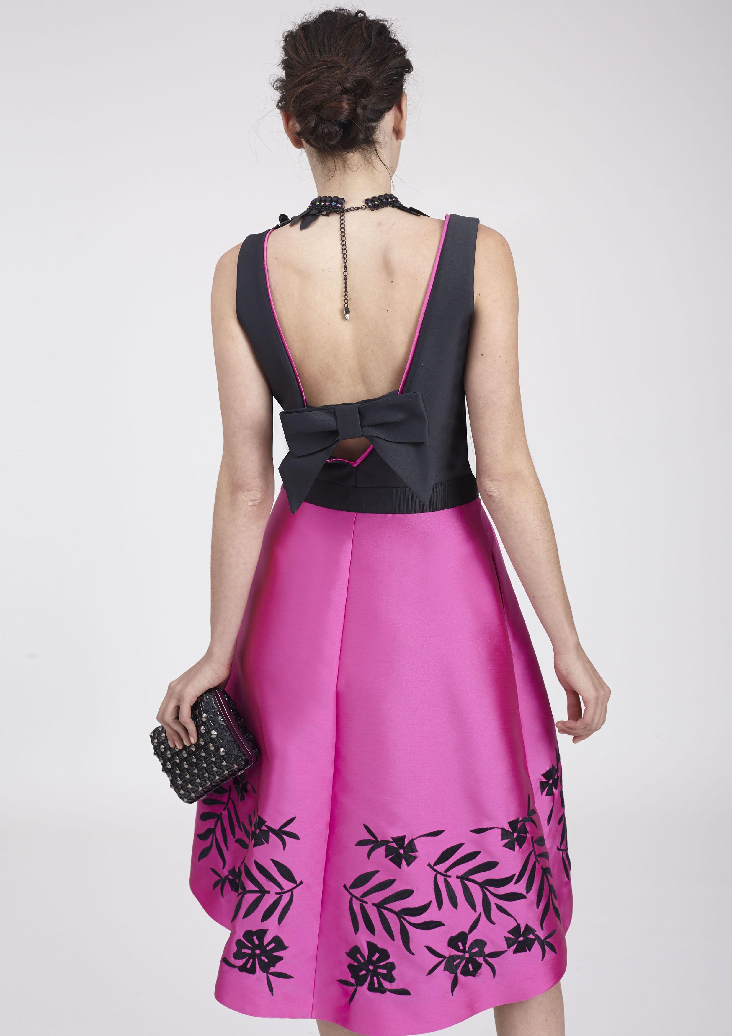 Vestido de fiesta bicolor crudo y negro   as I go to the wedding ...