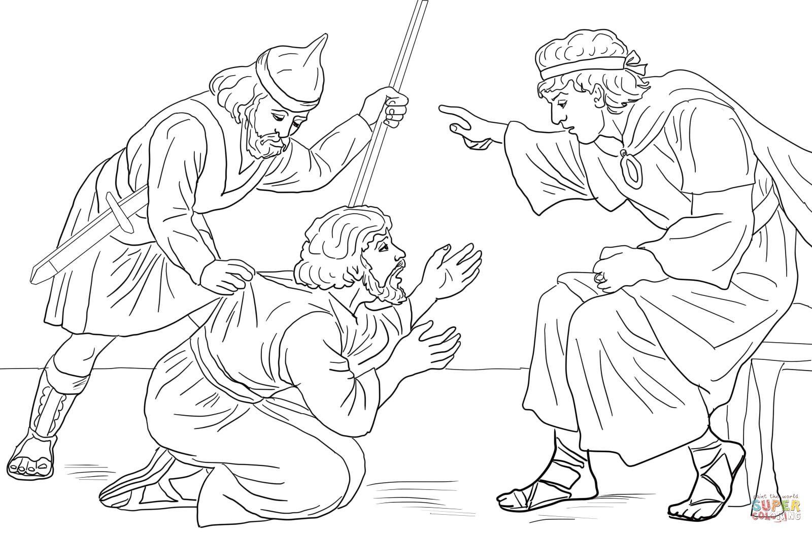 Parable Of Unmerciful Servant Coloring Page Bible Coloring Pages
