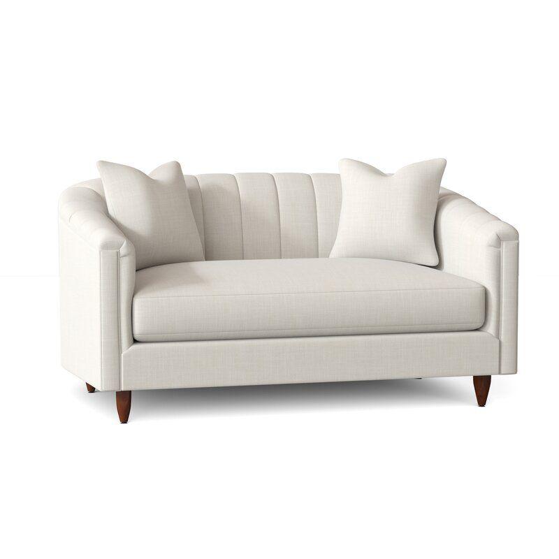 Armino 60 Tuxedo Arm Loveseat Love Seat Bench Seat Cushion Stylish Sofa