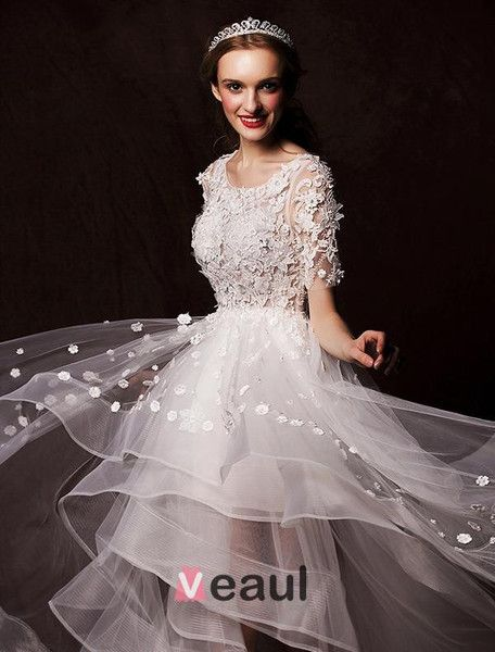 Brautkleider kurz, hochzeitskleider von Veaul Brautmode & Abendmode ...