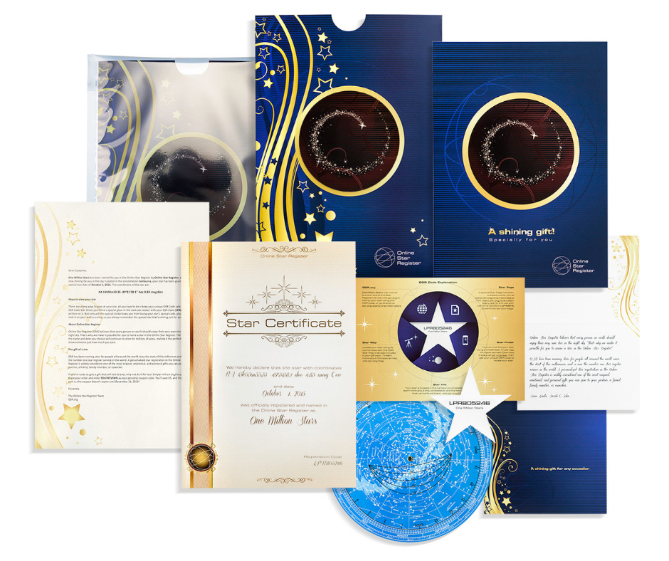 The Osr Gift Pack The Number 1 Original Gift In The Universe Originalgift Giftwrap Starmap Starinformation Star Gift Star Registry Stars Gifts
