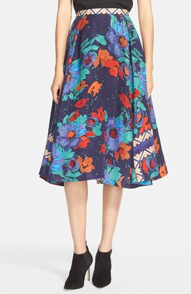 Tracy Reese Floral PrintJacquard Skirt available at #Nordstrom