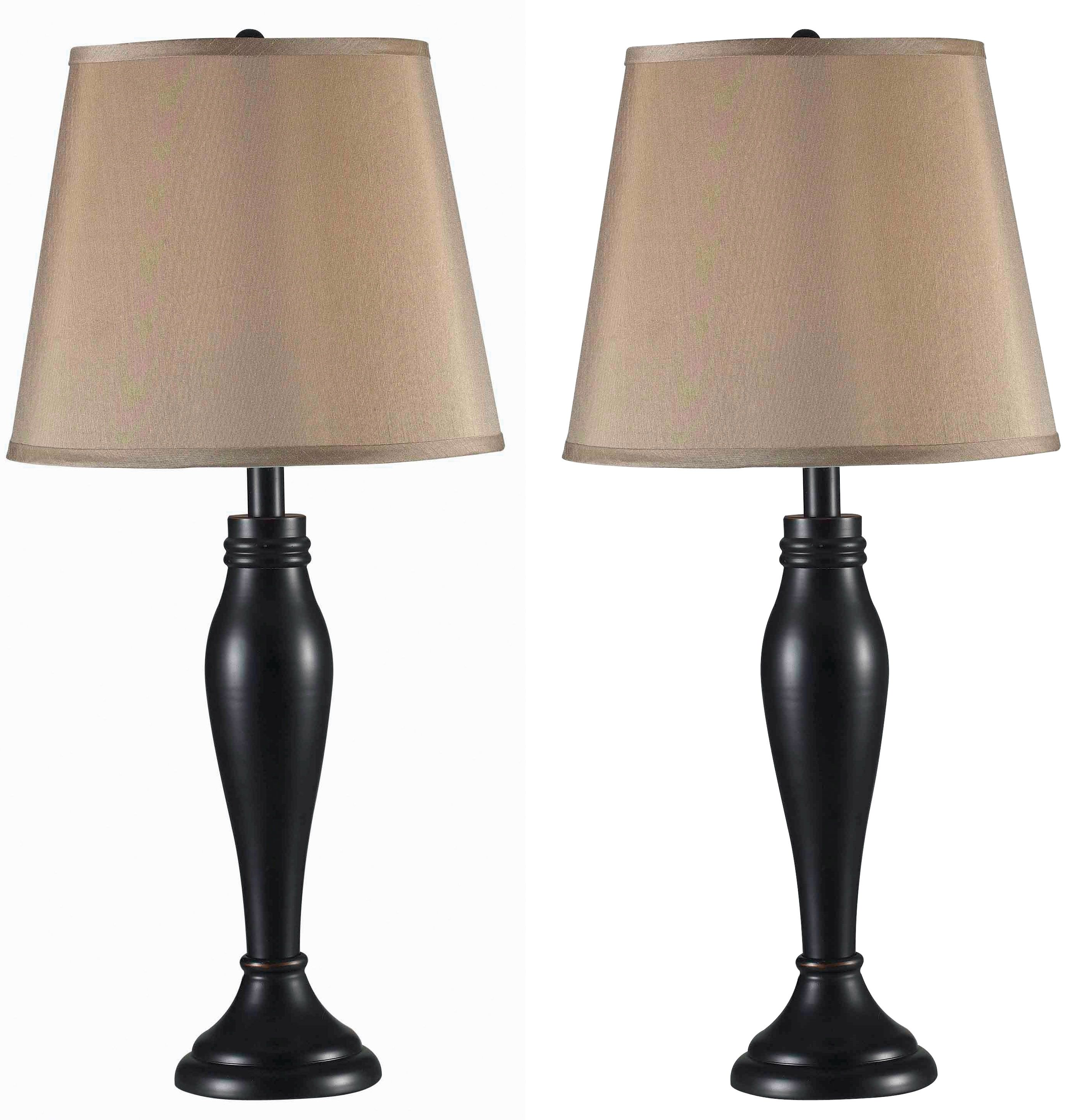 Roxbury 2 Pack Table Lamp The Classic Turned Profile Combines With A Sleek Light Gold Tapered Shade For A Look T Bronze Table Lamp Table Lamp Sets Table Lamp