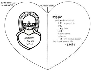 Jesus is My Valentine! Easy Foldable Card Craft for Kids