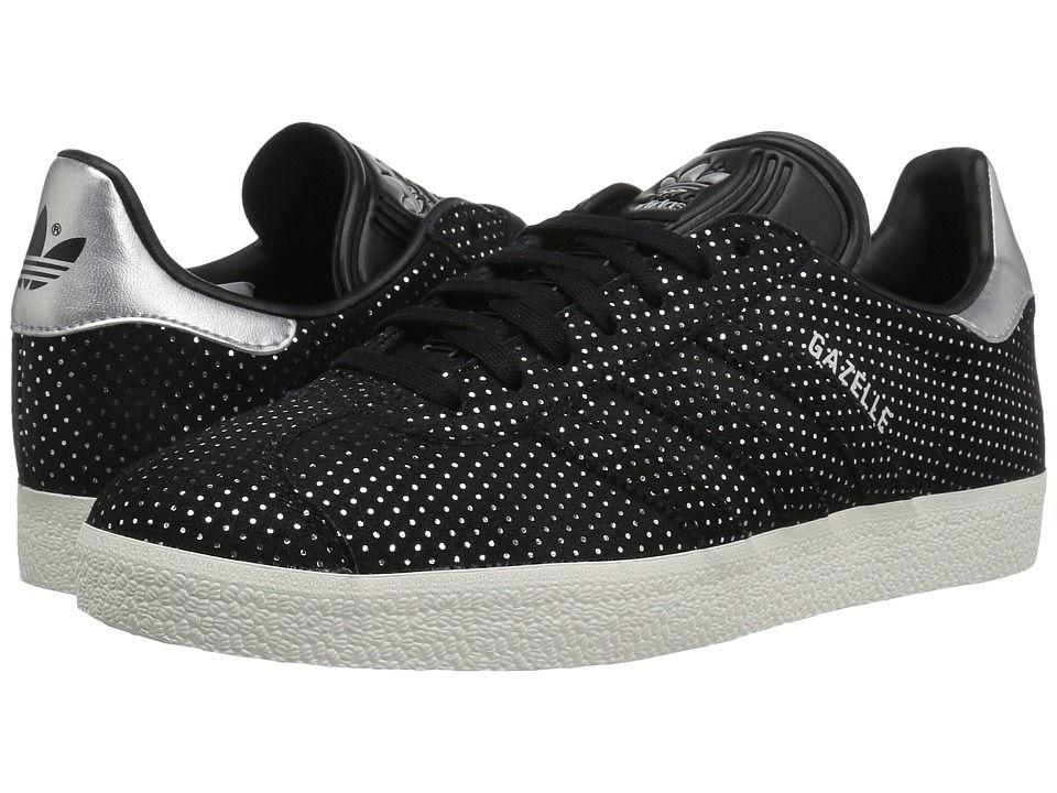 adidas Originals Gazelle Women's Tennis Shoes Core Black/Silver ...