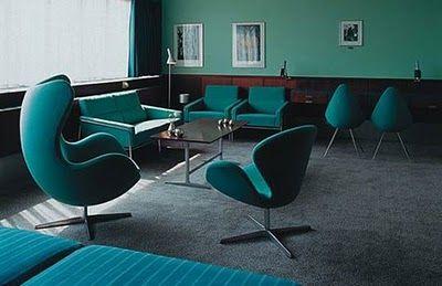 Arredamento Turchese ~ Blue teal ufficio turchese in stile vintage interior design
