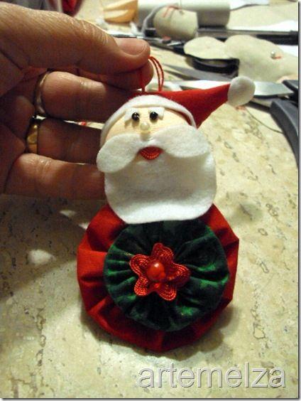 yo yo angel oraments | ... : Fuxico–Papai Noel para árvore | Yo-yo - Santa Claus for the tree