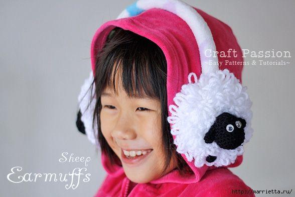 Tricotate Apărători pentru urechi LAMB (10) (588x392, 135Kb) | Baby ...