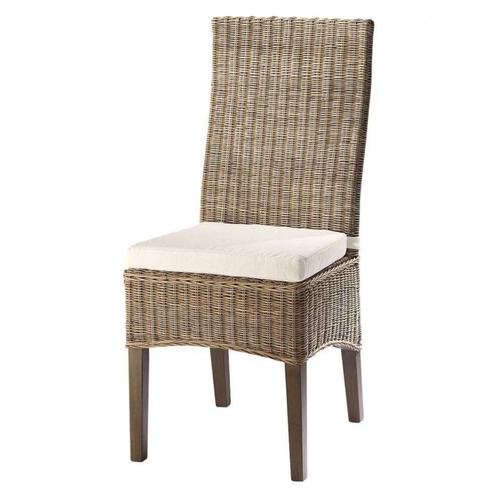 Maison Du Monde Fauteuil Rotin chaise en rotin et mahogany massif | chaise rotin, chaise et