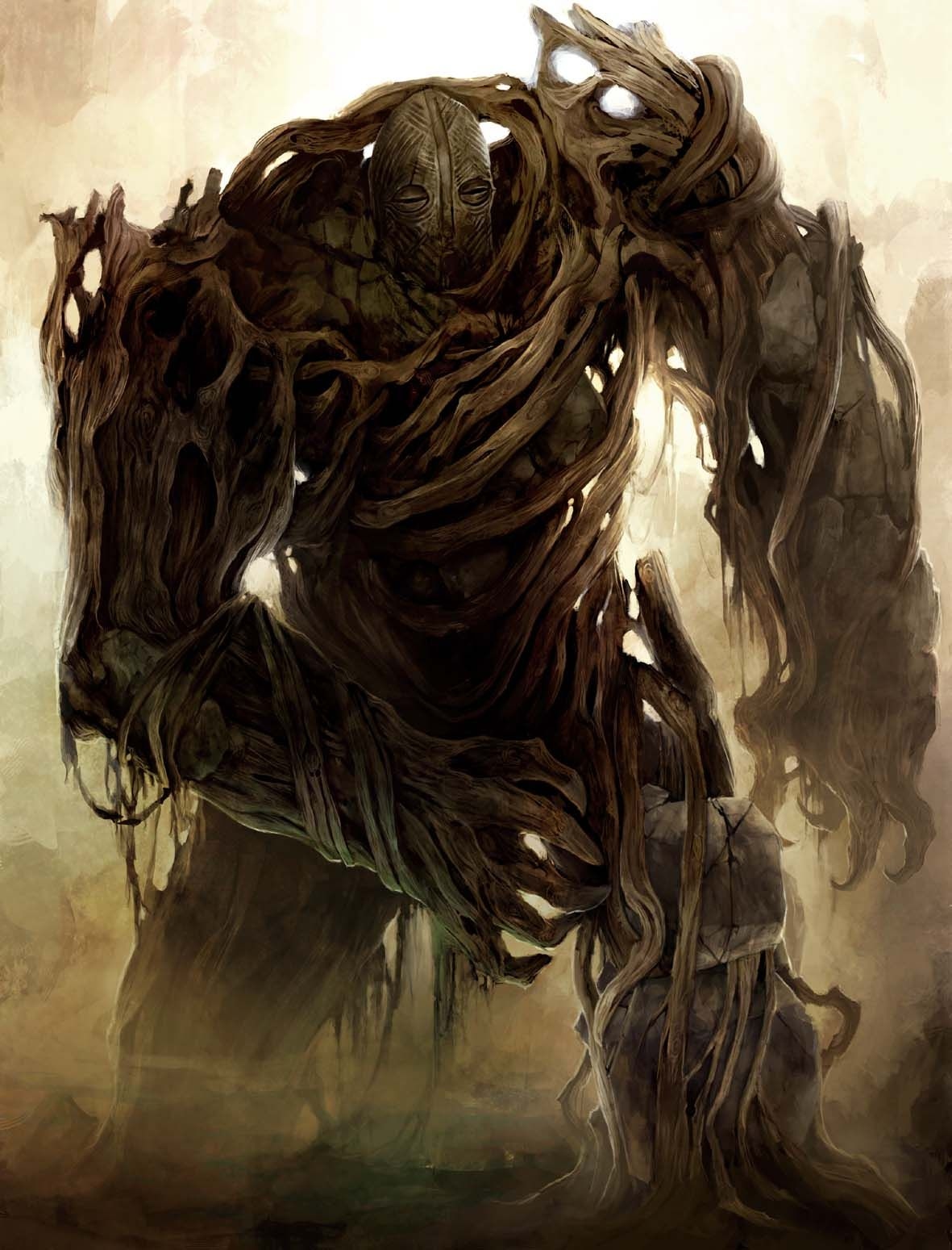 Wood Golem Creatures Characters Mythical Creatures Creatures