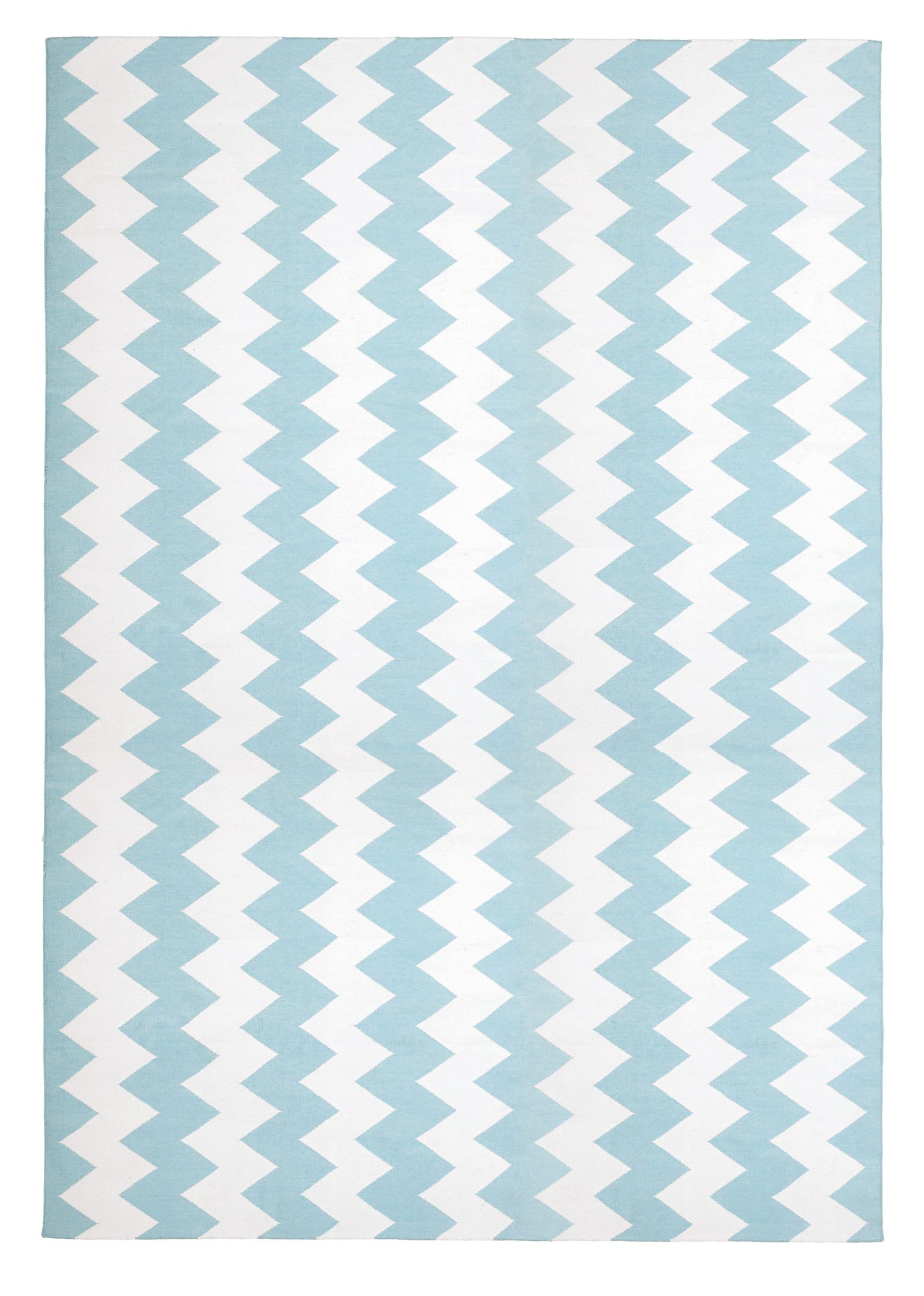Haveli Chevron Blue By The Rug Company Cotton Flatweave Dhurries And Kilims Nursery