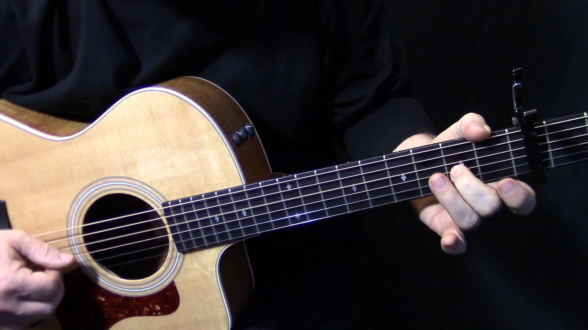 How To Play Landslide Live Solo On Acoustic Guitar By Fleetwood