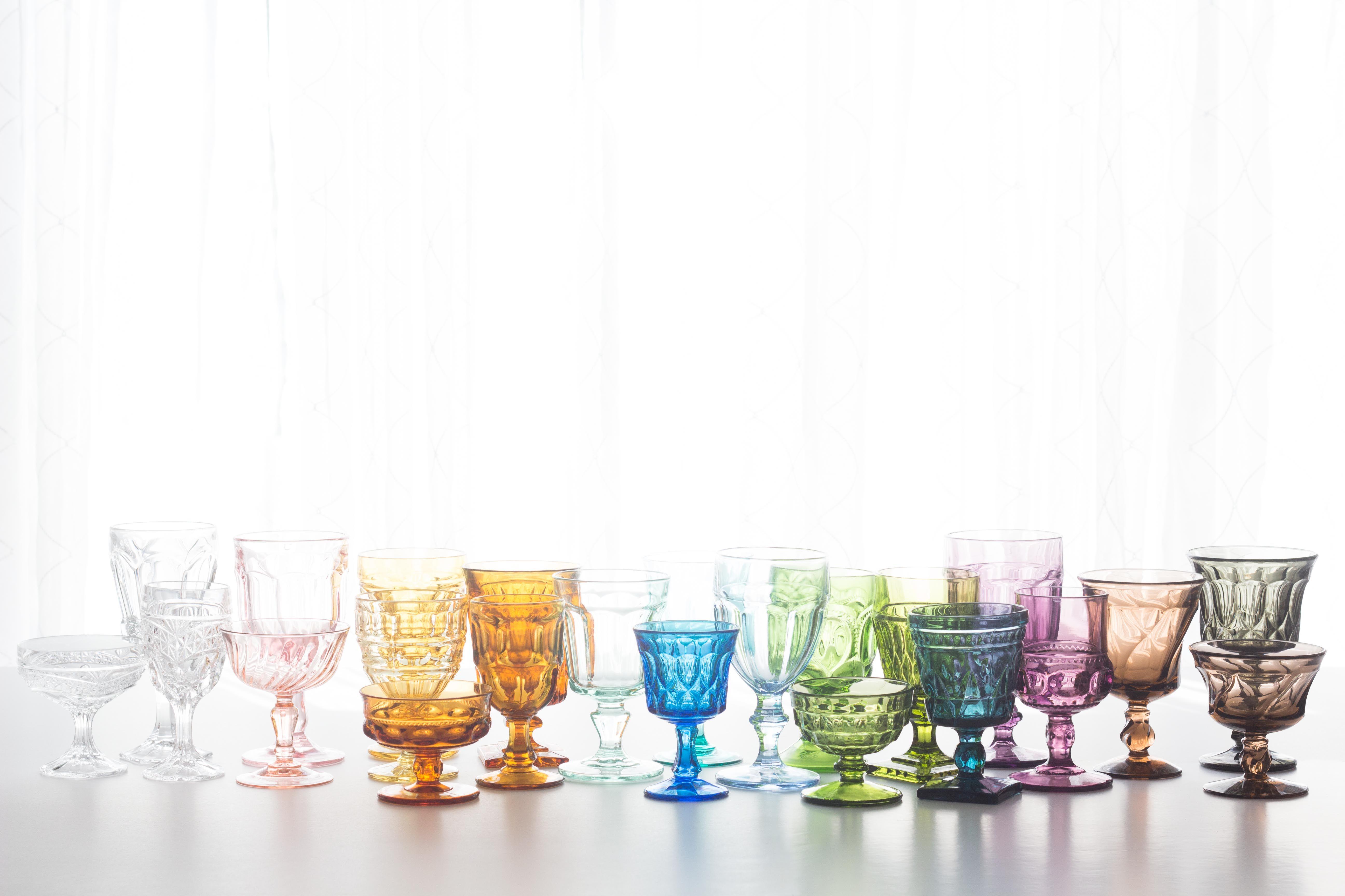 Rent Vintage Colored Goblets