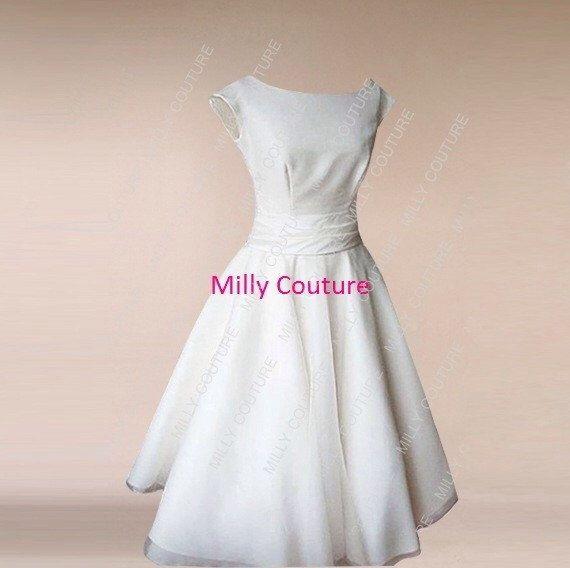Cap Tee Länge Hochzeitskleid, Kleid Vintage, 50er Jahre Rockabilly ...