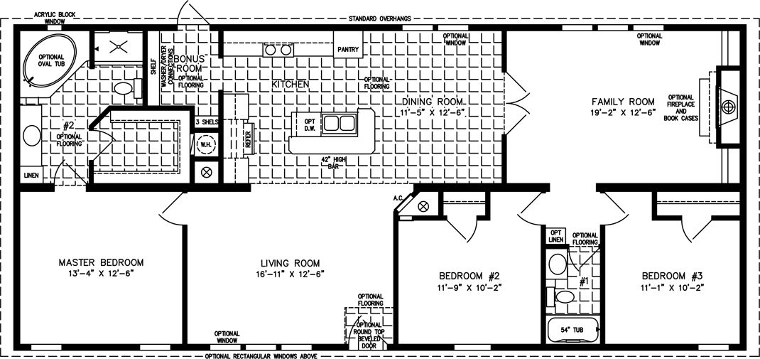 The Imperial Imp 46022b Manufactured Home Floor Plan