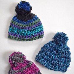 Easy Crochet Doll Hat Pattern — PACountryCrafts #dollhats