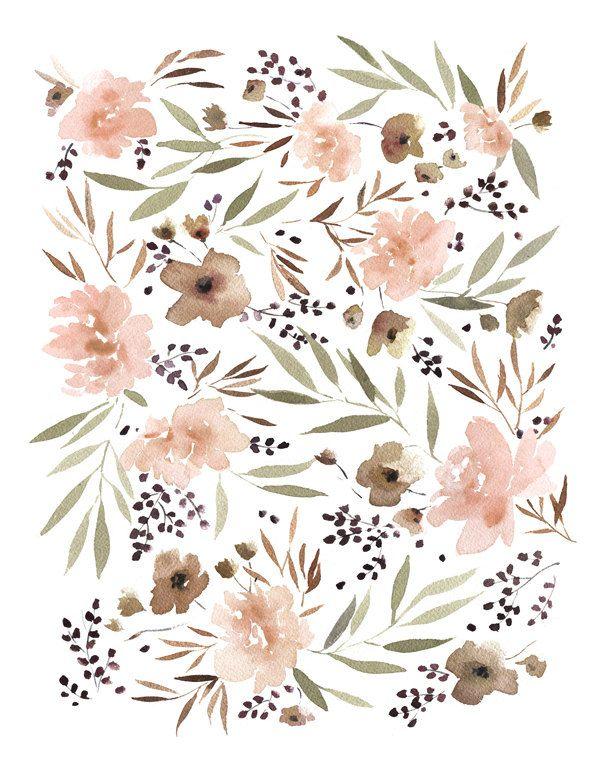 Spring Floral Art Print - 11X14