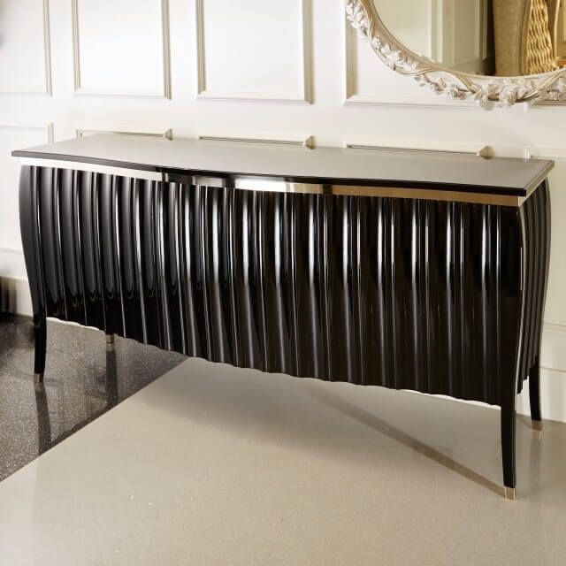 contemporary high gloss black sideboard buffet - Black Sideboard Buffet