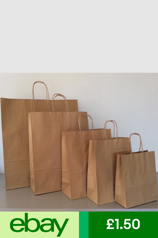 Brown Kraft Paper Carrier Bags 5 Sizes Party Gift Shop Event Bag Wholesale Paper Carrier Bags Brown Paper Bag Party Bags
