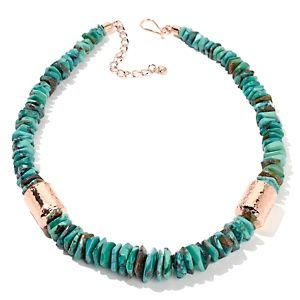"""Jay King Anhui Turquoise Beaded Copper 20"""" Necklace   $119.90 or 3 payments of $39.96  Appraised Value: $199.00  Shipping & Handling: $6.21"""