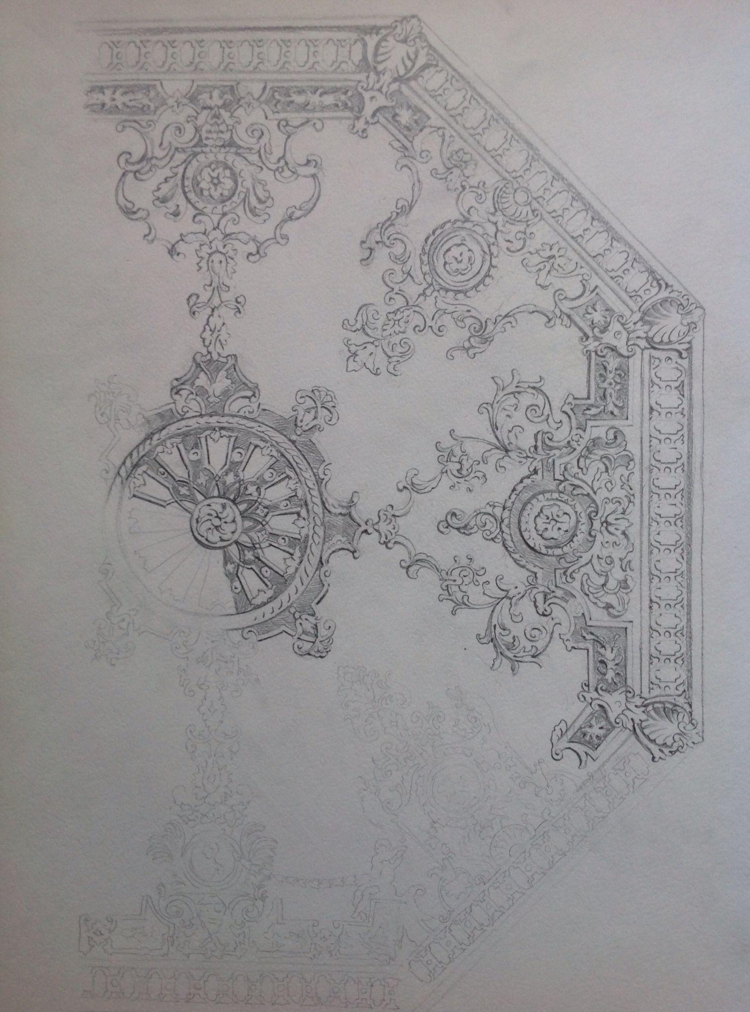 Sketch Design For A Ceiling Zimmerdecke Muster Zimmerdecke Muster Ornament Drawing Plaster Art Ceiling Art