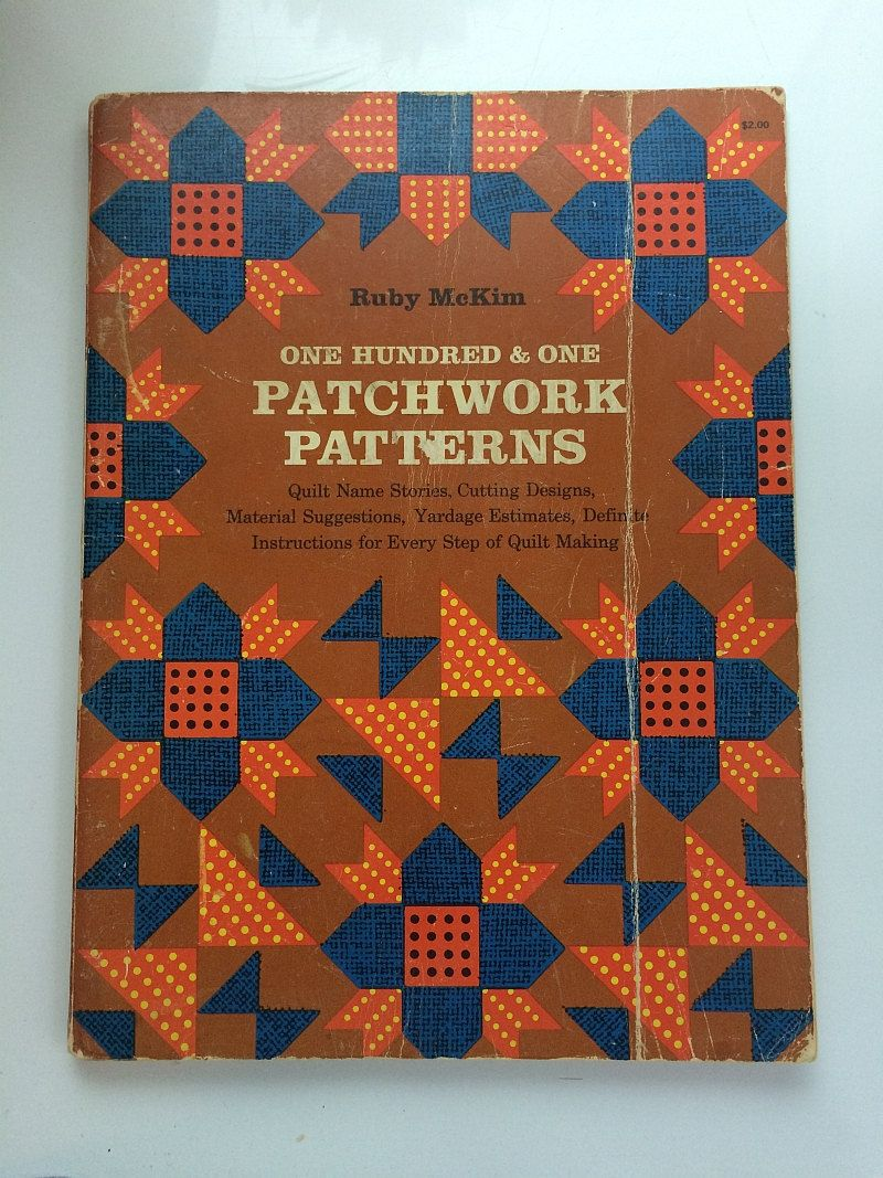 101 #Patchwork #Patterns #Quilting Book #Quilt Name Stories 1962 Ruby McKim  Vintage Softcover #Quilter Christmas Gift Cut Outs Instruction How To by ...