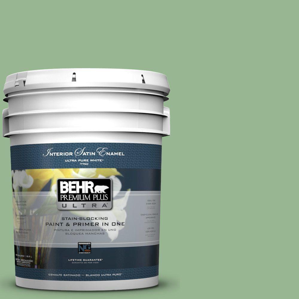 BEHR Premium Plus Ultra 5-gal. #M400-4 Brookview Satin Enamel Interior Paint