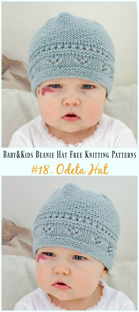 Baby & Kids Beanie Hat Free Knitting Patterns #strickanleitungbaby