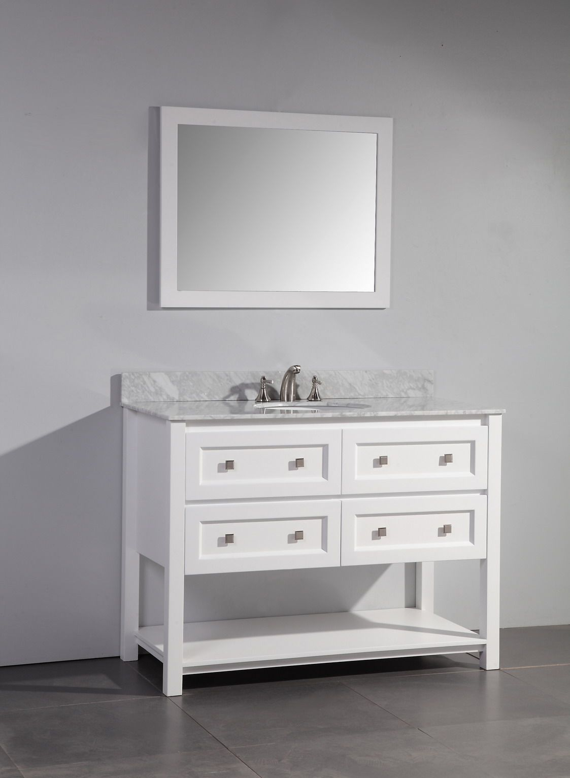 Art Legion 48 Inch Contemporary Single Sink Bathroom Vanity With