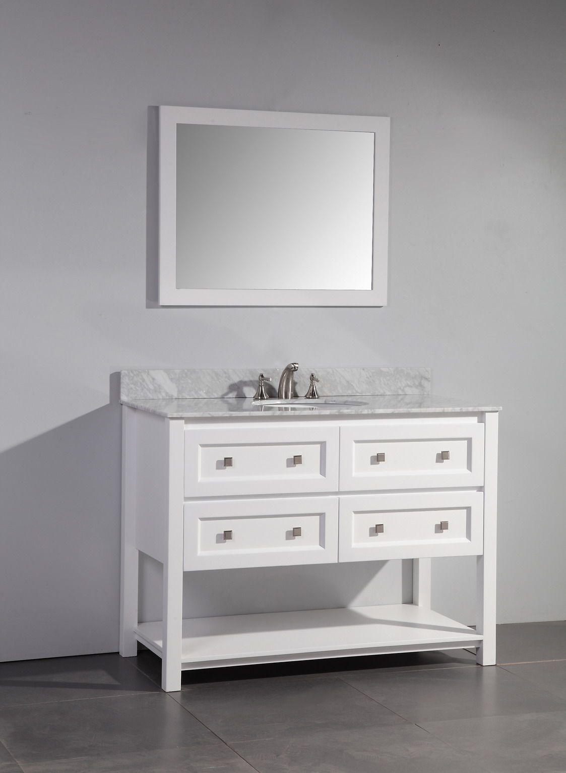 Art Legion 48 Inch Contemporary Single Sink Bathroom Vanity