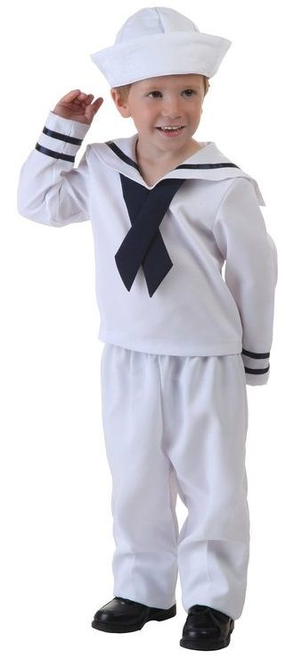 For a super-cute Halloween look for the toddler set take a look at this darling Popeye costume. All he needs is a corncob pipe and a can of   sc 1 st  Pinterest & For a super-cute Halloween look for the toddler set take a look at ...