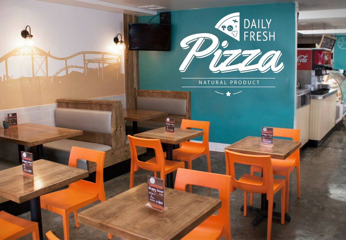 Pizza Quote Vinyl Wall Decal Pizzeria Funny Decor Art Dining Room