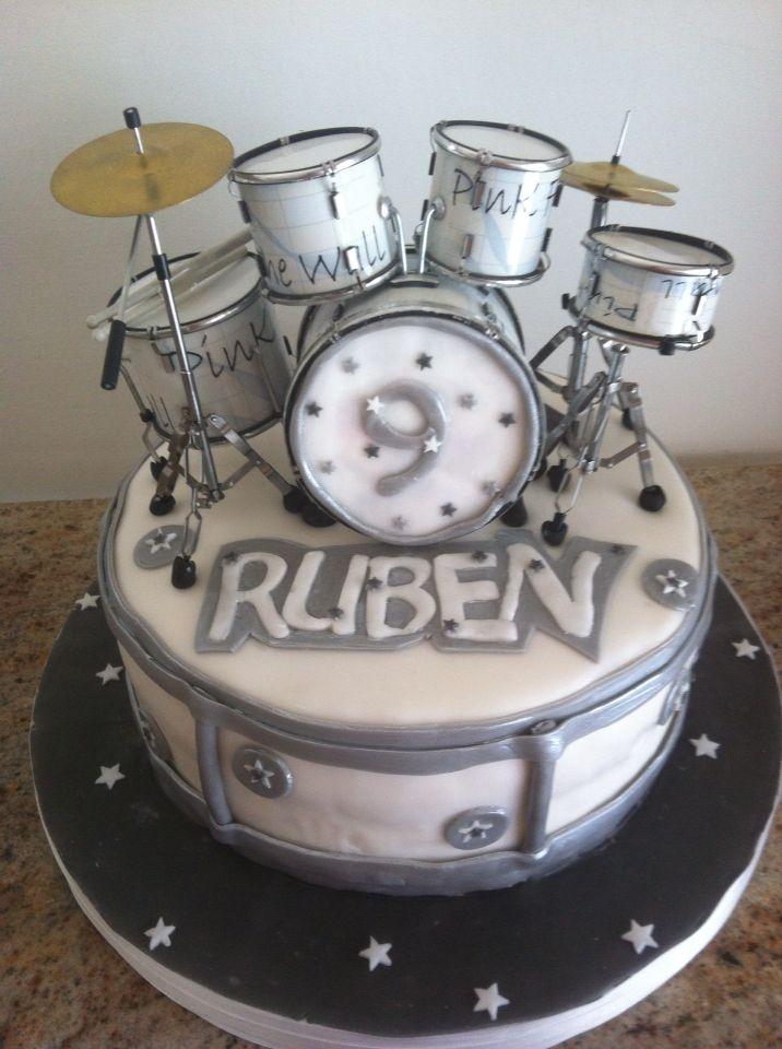 Cake Design Strumenti Musicali : Torta con batteria, percussion cake torte Pinterest ...