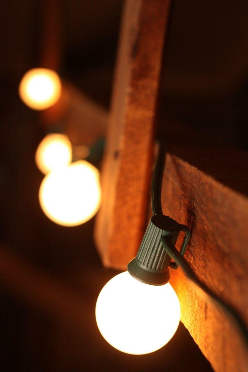Wall String Lights For Bedroom: Set Of 25 G40 Bulbs (Indoor