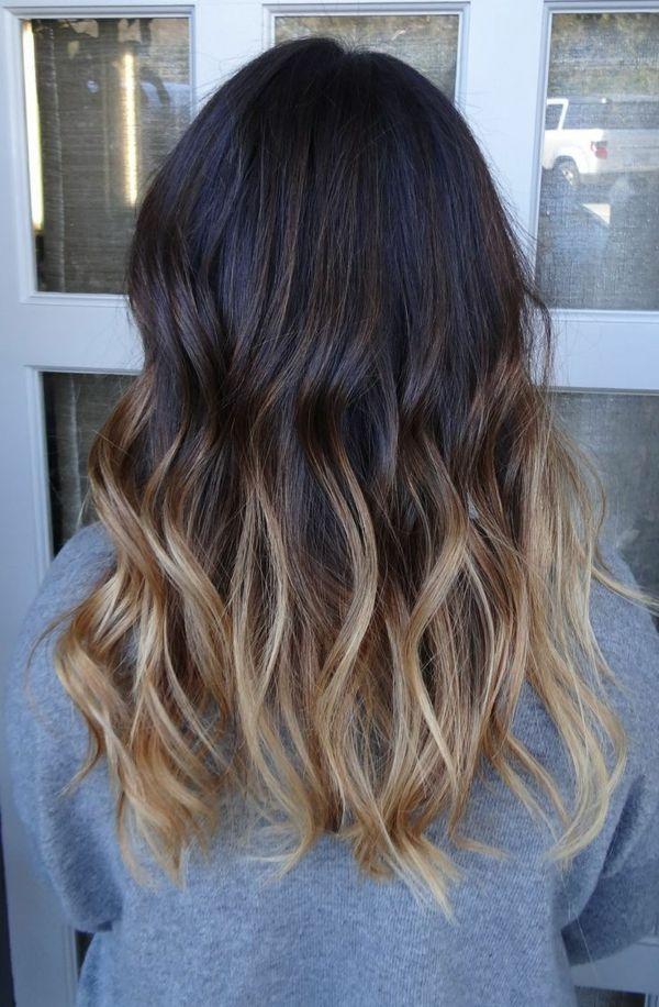 Blonde braune haare