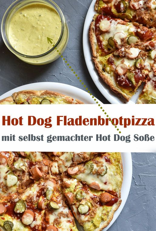 """Photo of """"Hot Dog"""" flatbread pizza. Quickly done."""