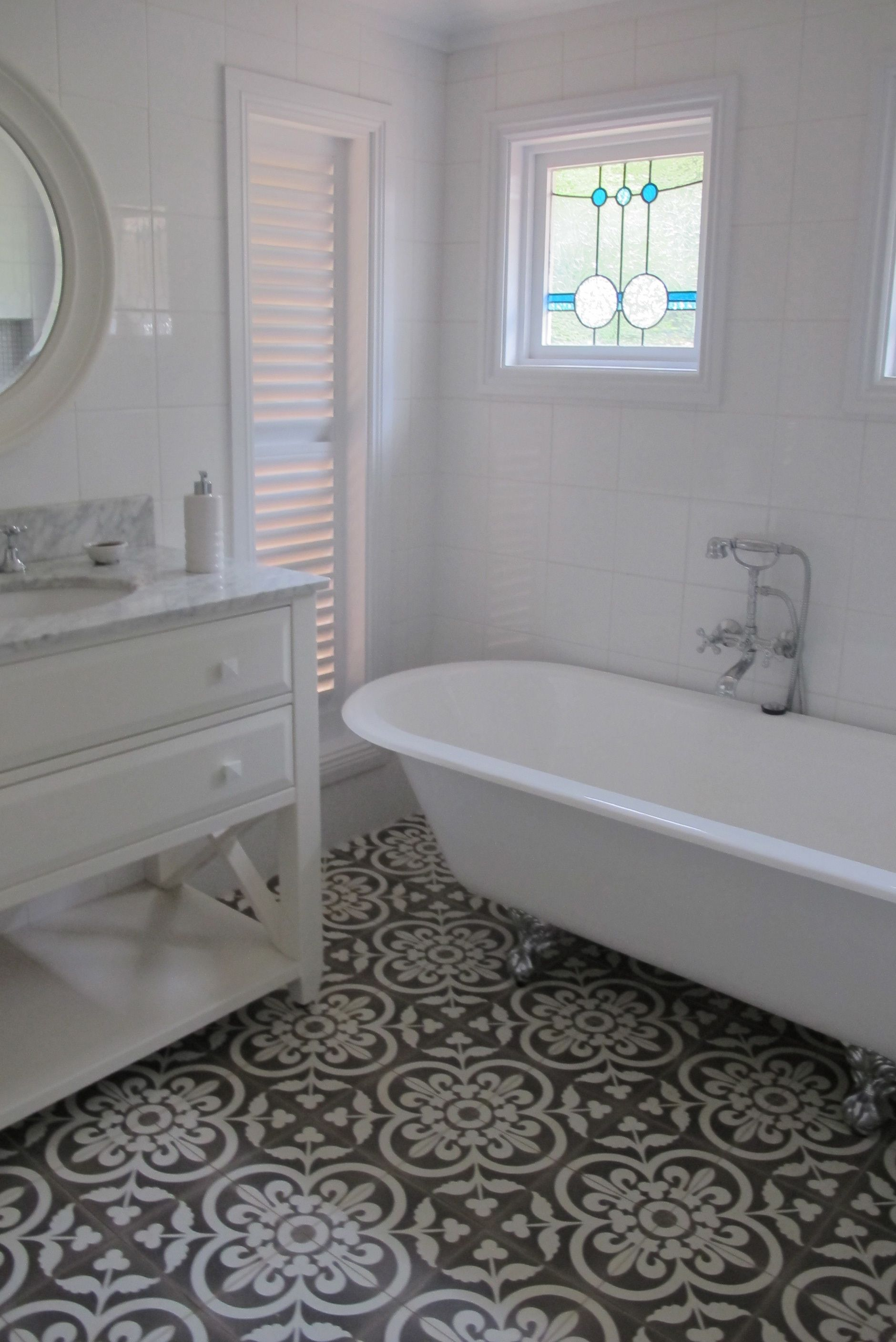 Cement bathroom tiles - Why You Should Add A Tile Or Mosaic Feature To Your Interiors Cement Tiles Bathroombathroom