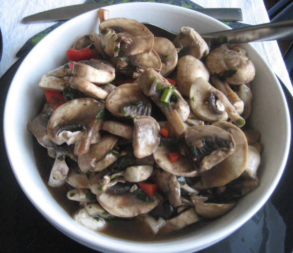 Cogumelos marinados
