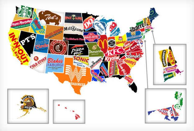 Wendy\'s | Humor | Food map, Fast food chains, Fast food ...