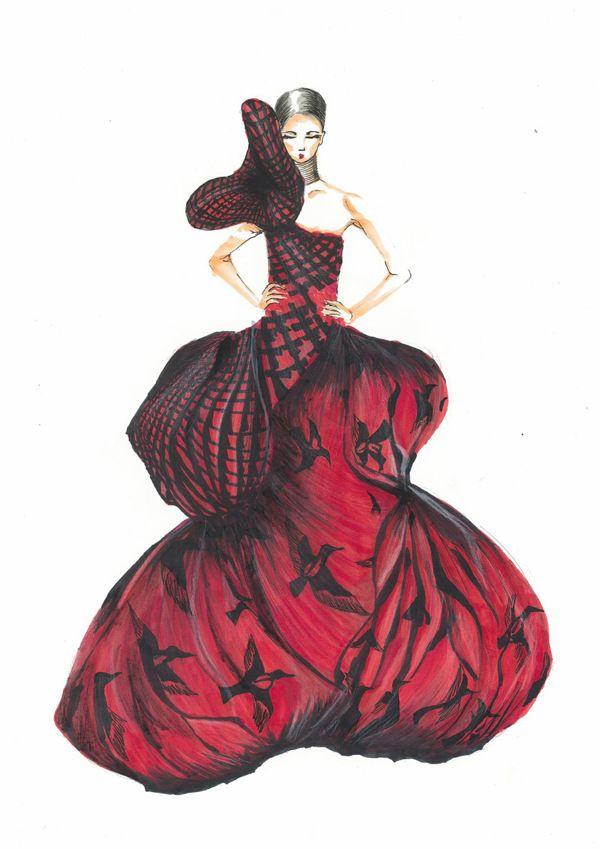 Alexander McQueen Gown by xiaoyi yi