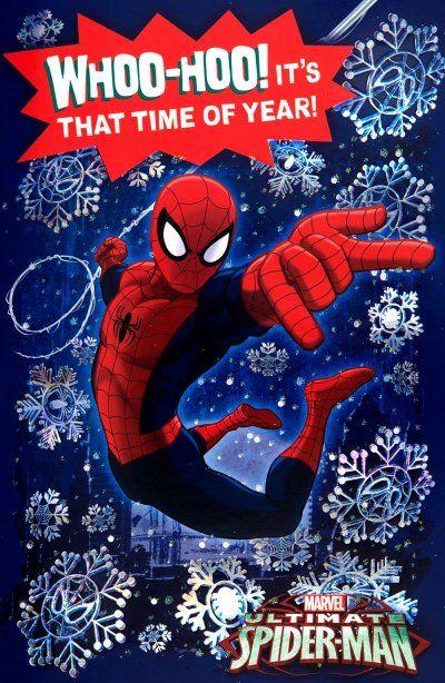 Spiderman Christmas.Christmas Card Spider Man Christmas Christmas