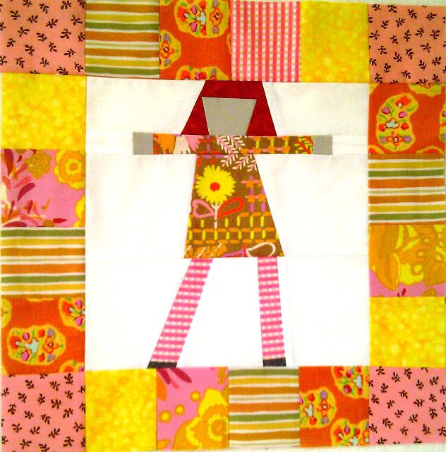 Orlando Modern Quilt Guild August 2013 Block Of The Month Quilts Pippi Longstocking Quilt Block Tutorial