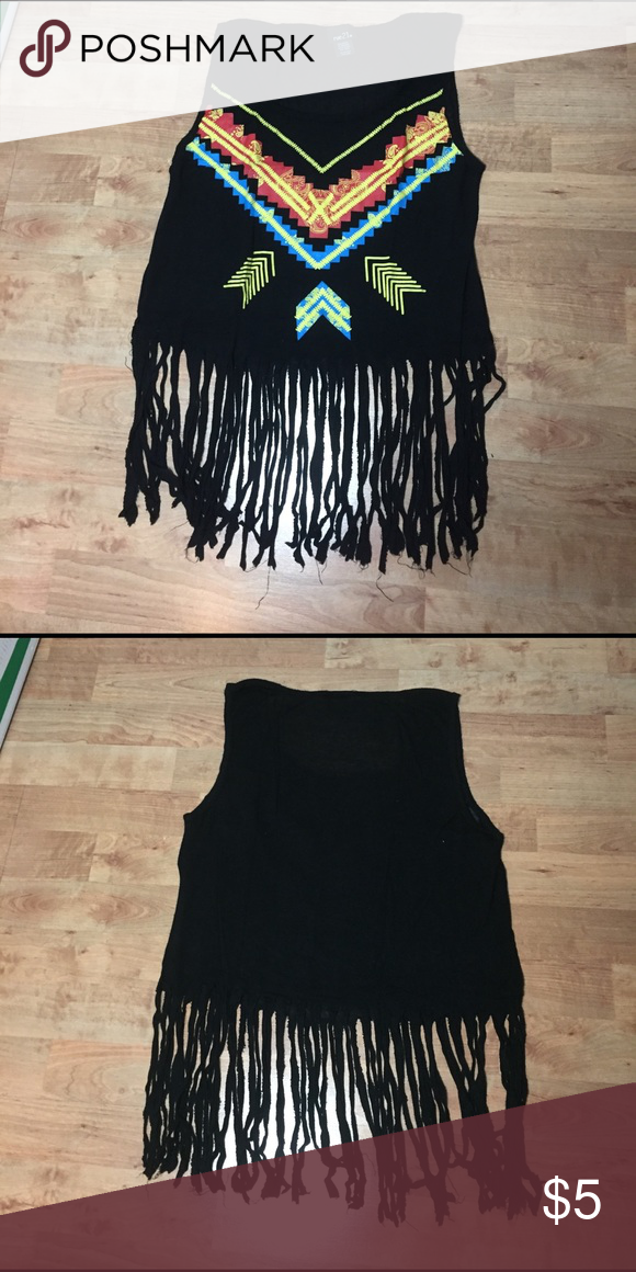 Rue21 fray shirt Great for summer and going to festivals! Rue21 Tops Muscle Tees