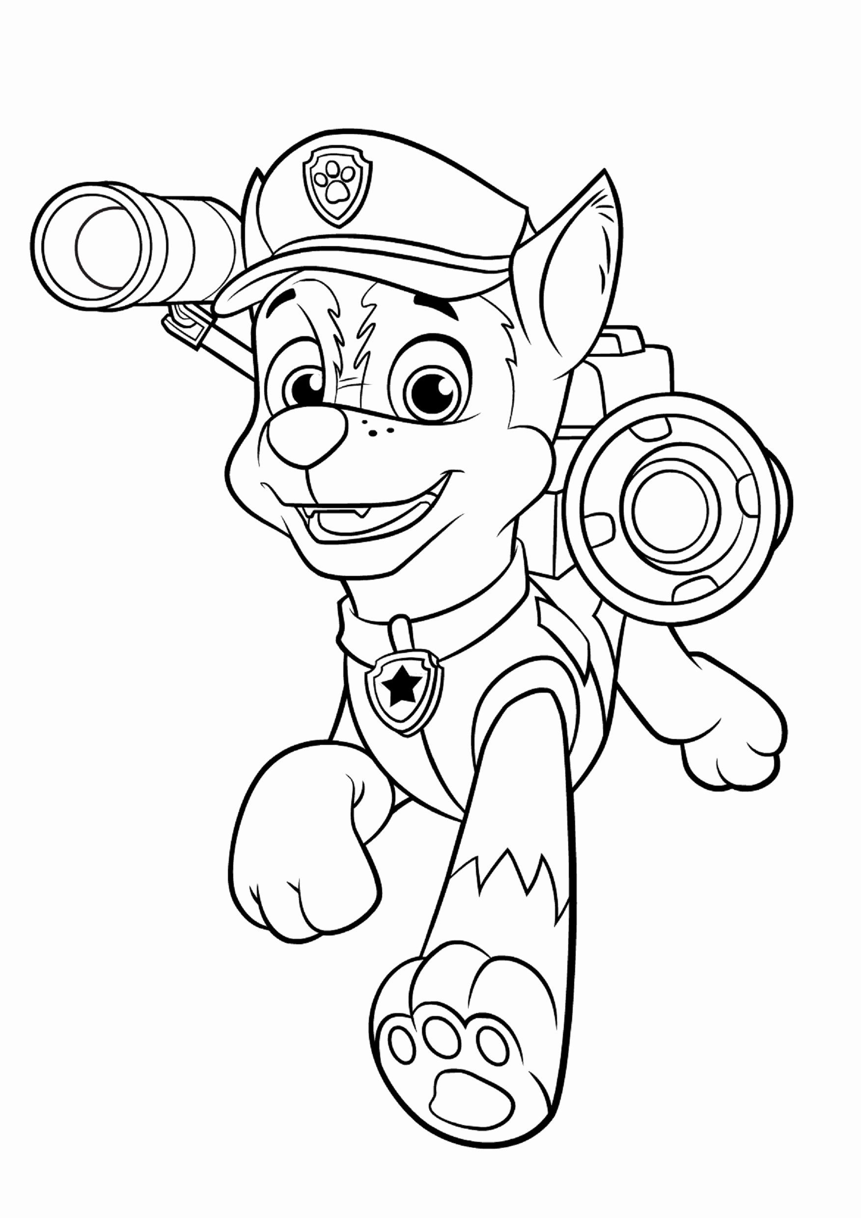 Paw Patrol Chase Coloring Page Fresh Step by Step How to