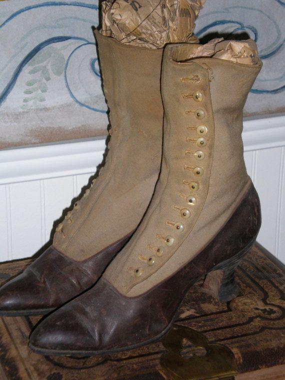 antique victorian shoes boots via etsy shoes pinterest schuhe kost m und. Black Bedroom Furniture Sets. Home Design Ideas