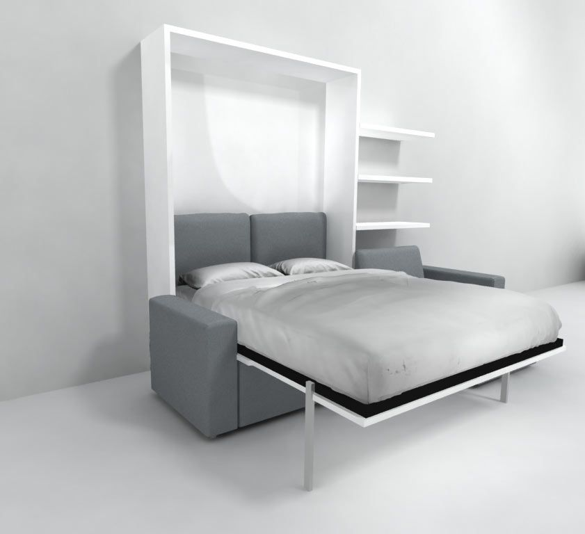 Murphy Bed Nfm: MurphySofa Clean- Sectional Queen Wall Bed In 2019