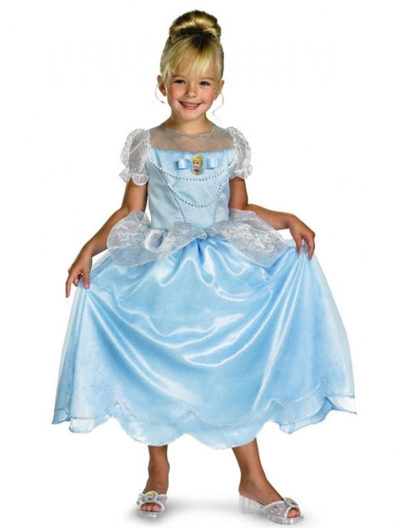 Girls Child Disney Princess Sparkle Classic Cinderella Princess Dress Costume