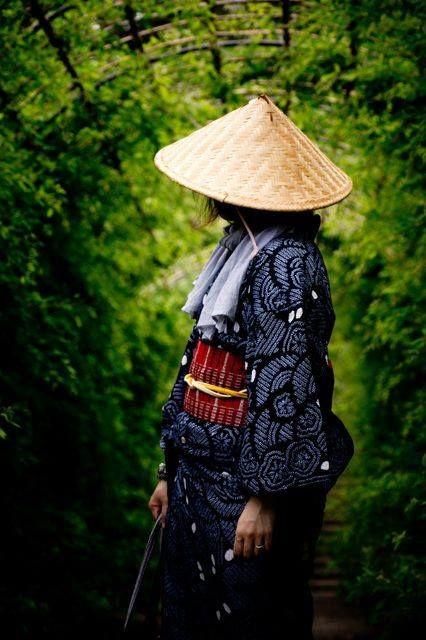 Japanese Straw Hat Sugegasa 菅笠 Japanese Costume Asian Outfits Japanese