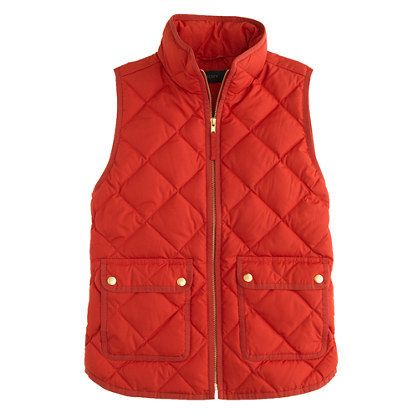 We've seen countless puffy vests this year and we are loving all of them! This J.Crew quilted, puffy vest screams preppy. via StyleList