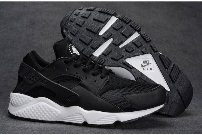 sale retailer a7931 a80f3 ... real nike air huaraches womens mens oreo black white and b273b 619ad